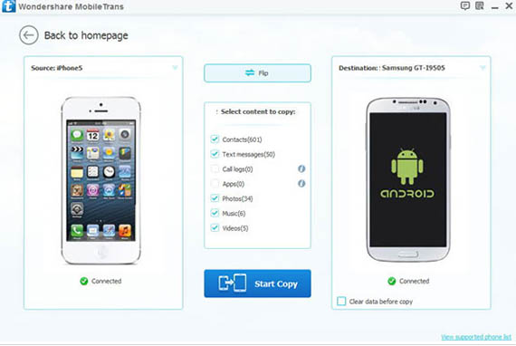 iPhone to Android transfer